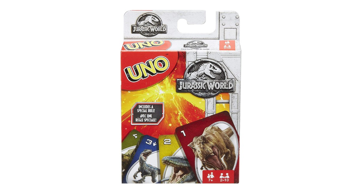 Uno Jurassic World Card Game ONLY $5.99 (Reg. $10)