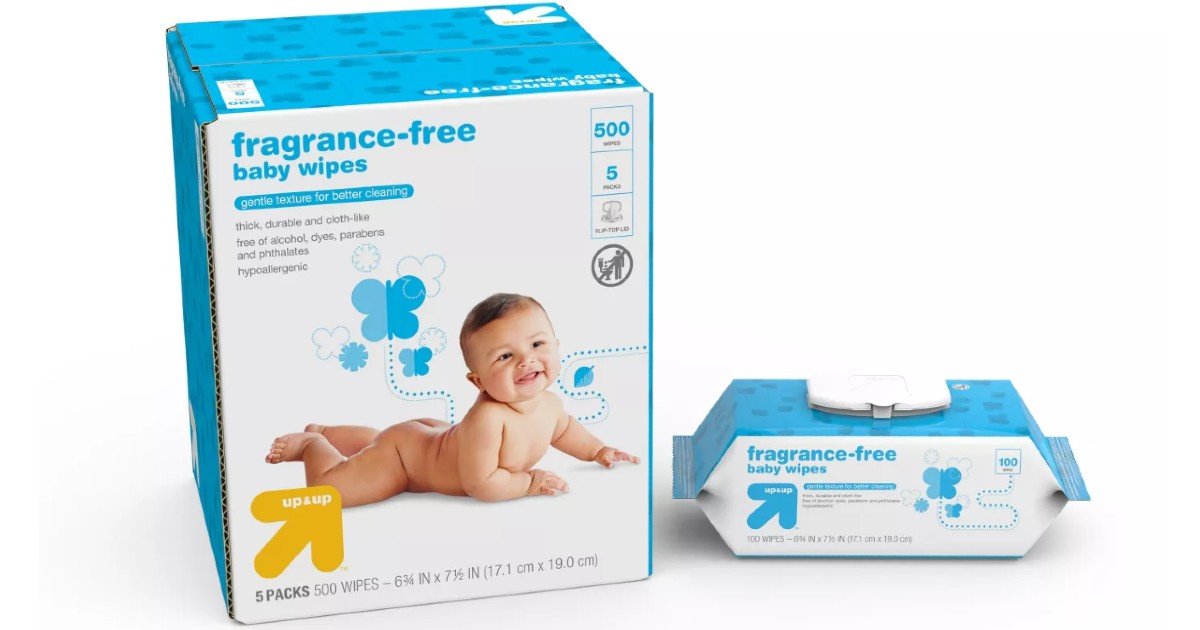 Fragrance Free Baby Wipes at Target