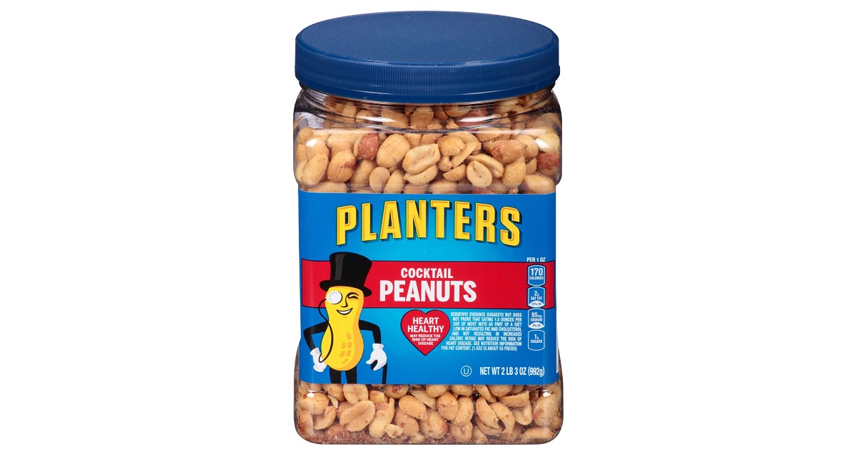 Planters Salted Peanuts Resealable Jar 35-oz ONLY $5.07 Shipped