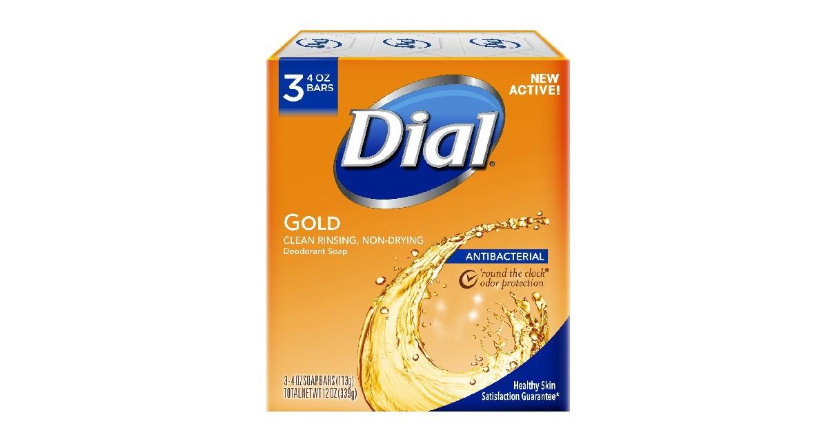 Dial Antibacterial Deodorant Soap 3-Count ONLY $1.61 (Reg. $7)