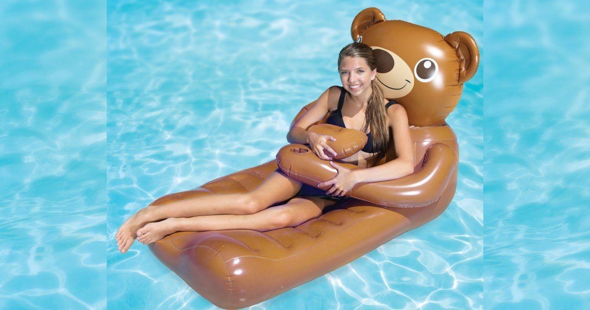 SwimWays Huggables Teddy Bear Inflatable Float ONLY $10.45!