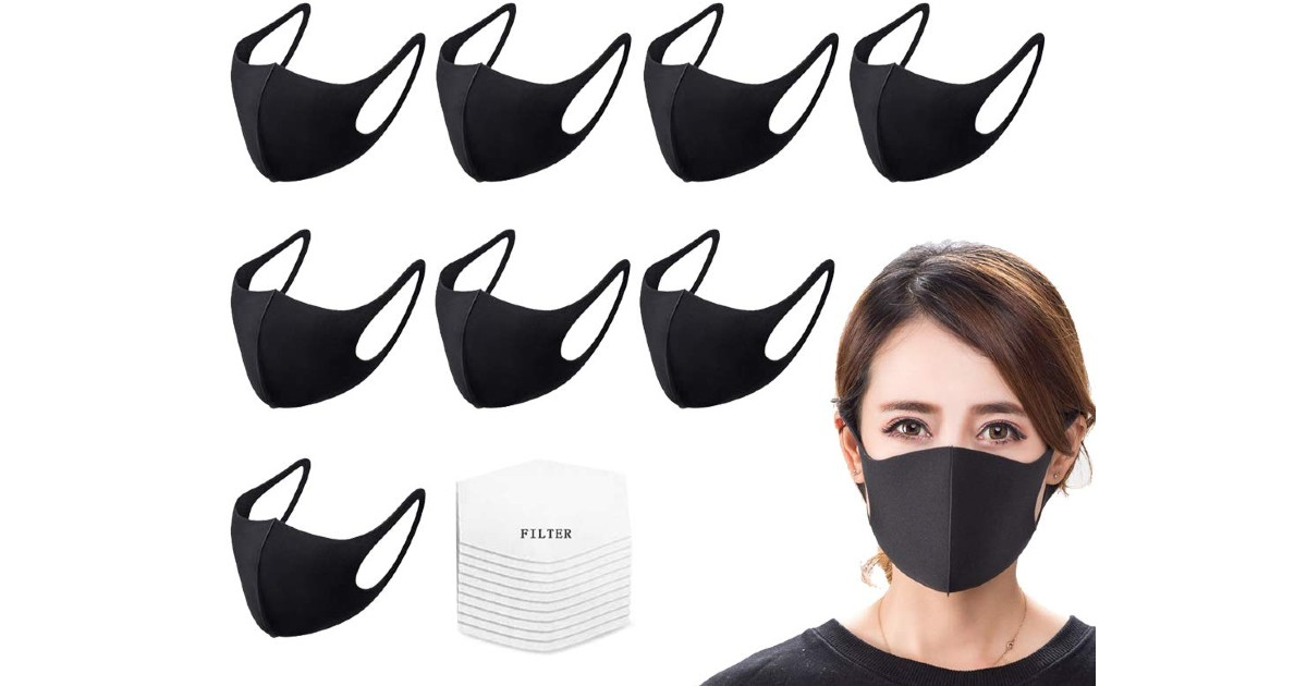 Reusable Face Masks 8-Pack + 45 Filters ONLY $35.99 Shipped