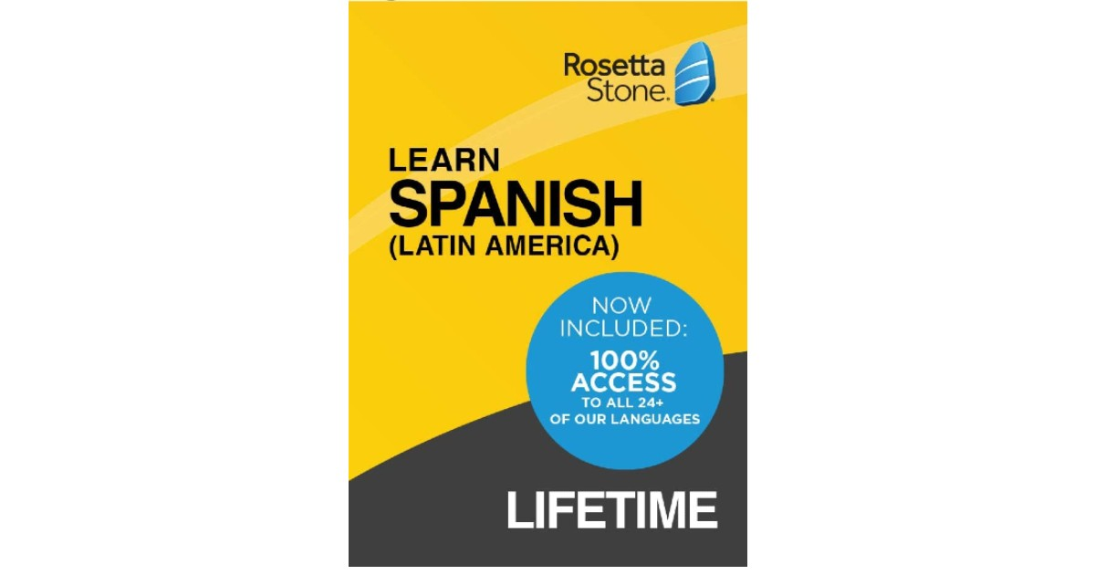 Learn Spanish Lifetime Access with Rosetta Stone ONLY $150
