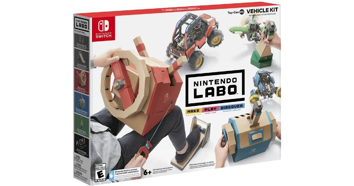 Labo Toy-Con Vehicle Kit - Nintendo Switch ONLY $19.99 (Reg $70)