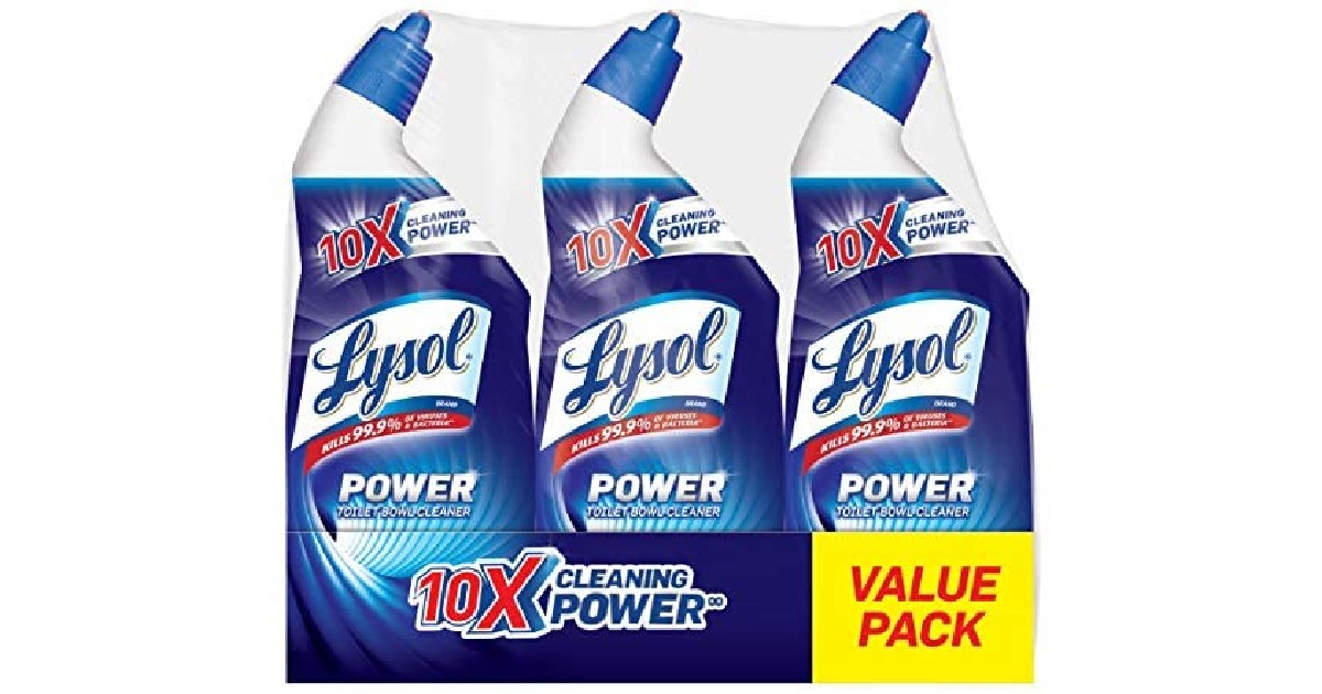 Lysol Lysol Power Toilet Bowl Cleaner ONLY $1.66 Each on Amazon