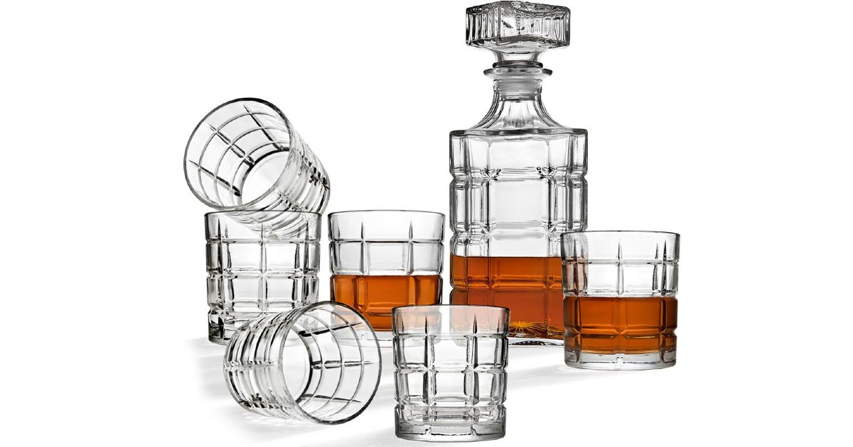 Crystal Decanter w/ Whiskey Gl...