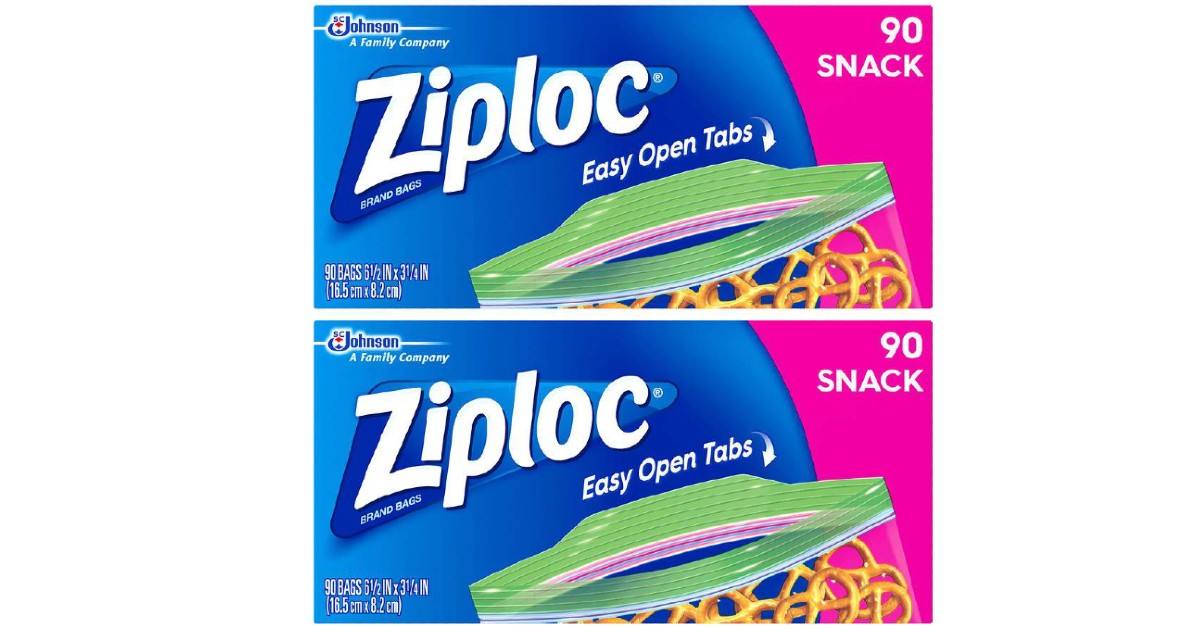 Ziploc Snack Bags at Walgreens