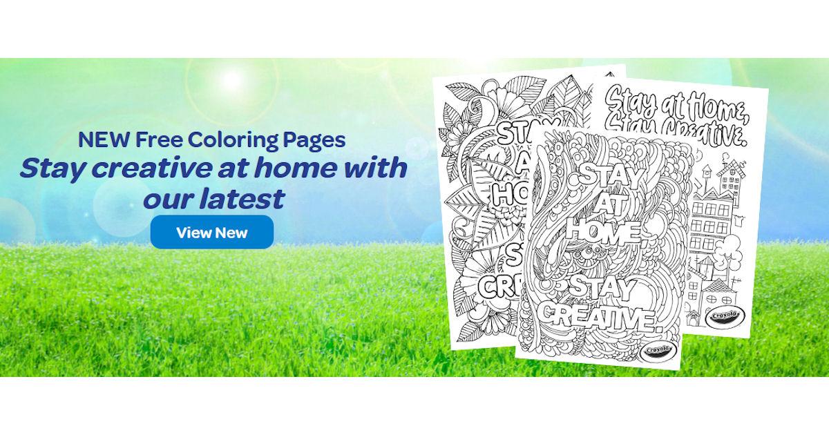 FREE Crayola Stay Creative at.