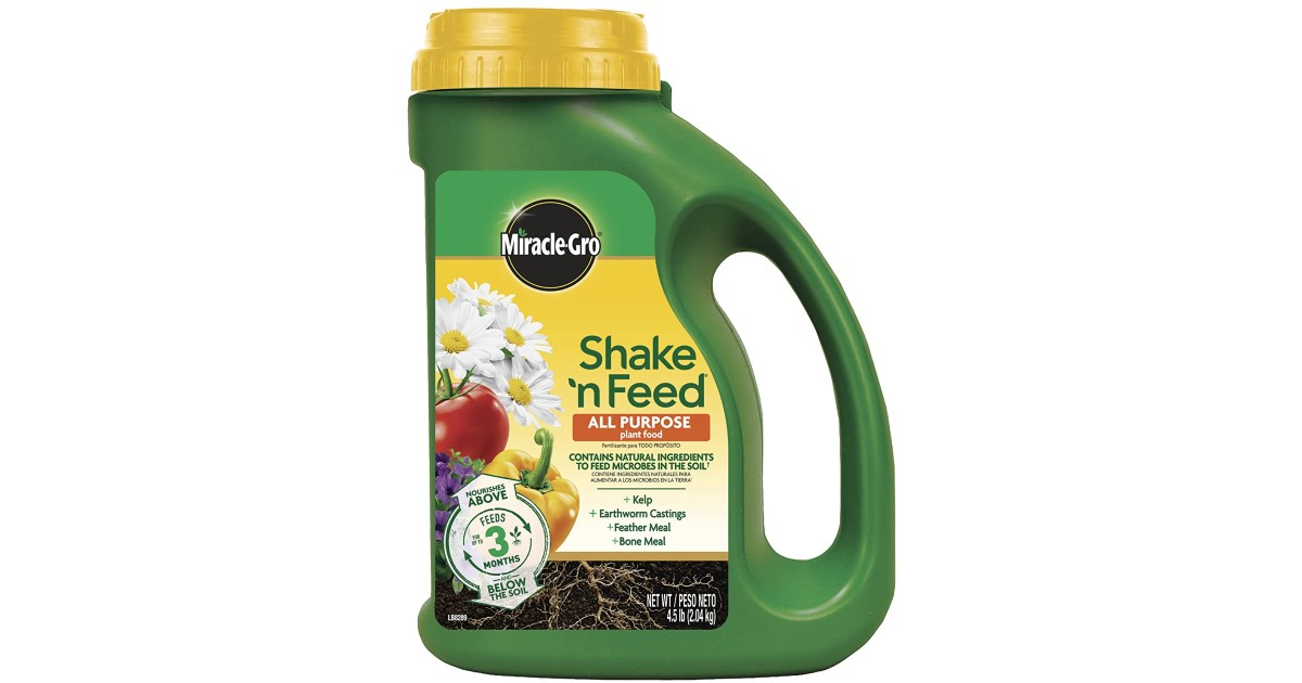 Miracle-Gro Shake 'N Feed ONLY $10.48 (Reg. $20)