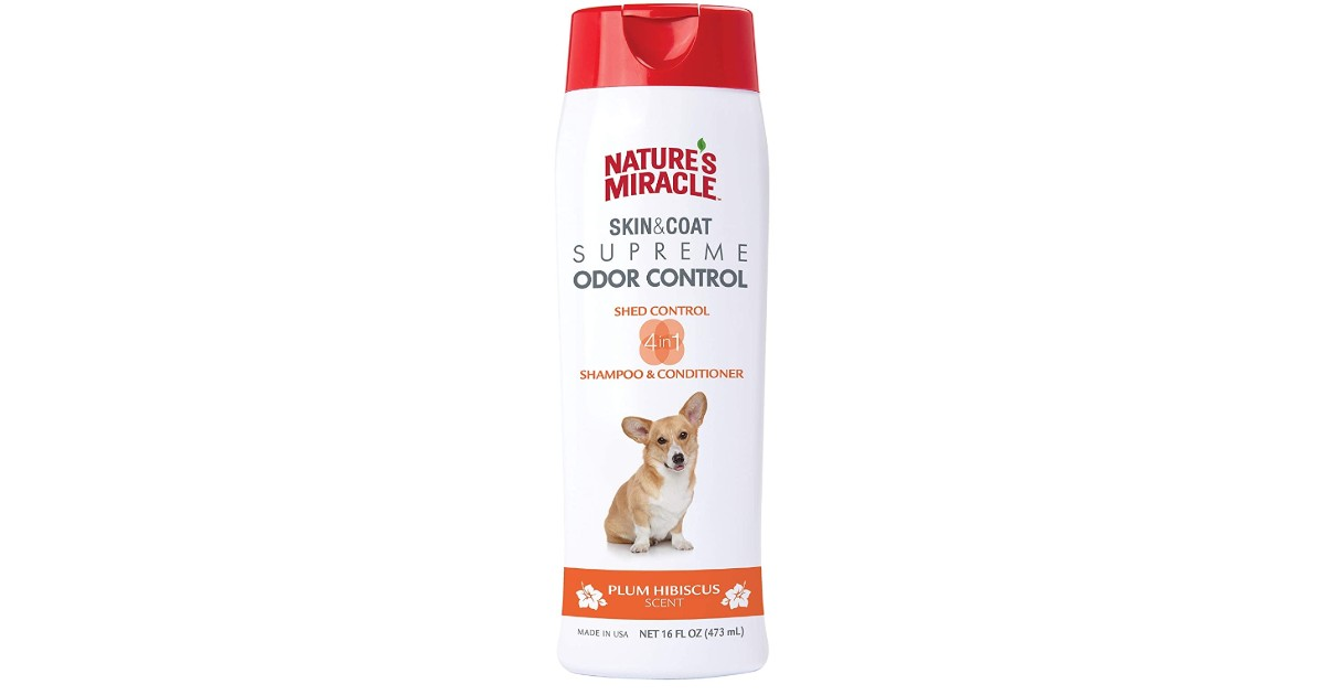 Nature's Miracle Odor and Shed Control Shampoo $3.27 (Reg. $11)