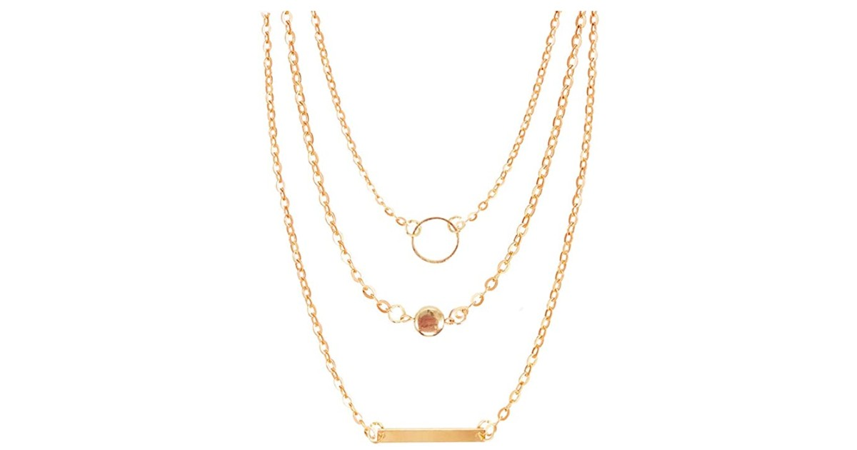 Simple Layered Necklace ONLY $3.15 Shipped