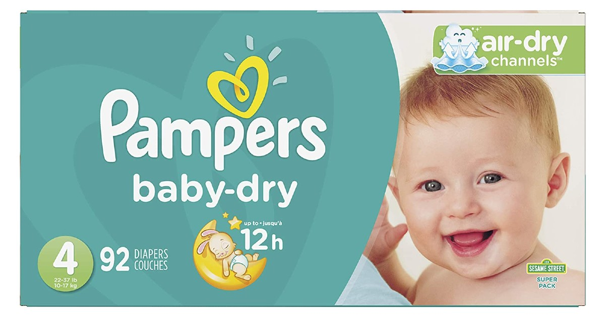 Pampers Baby Dry 92-Count ONLY $24.27 at Amazon (Reg $42)