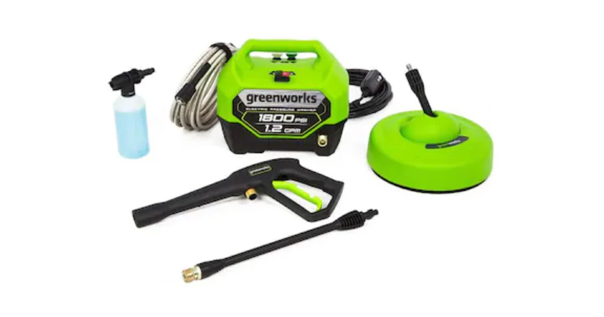Greenworks Electric Pressure Washer ONLY $99 (Reg $178)