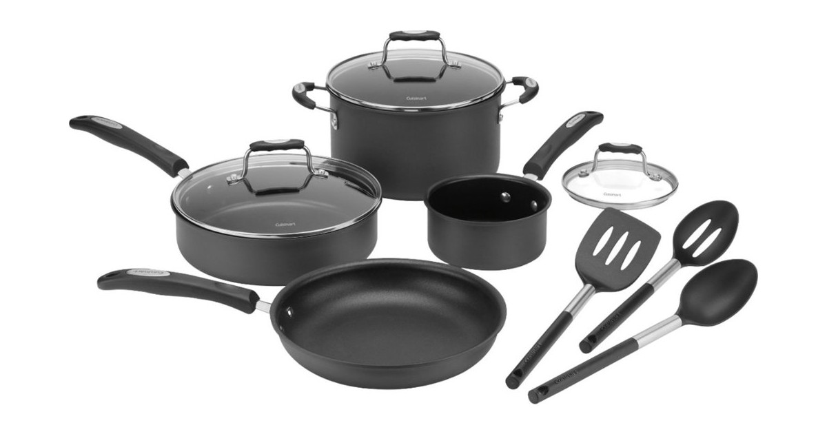 Cuisinart 10-Piece Cookware Set ONLY $79.99 (Reg $200)