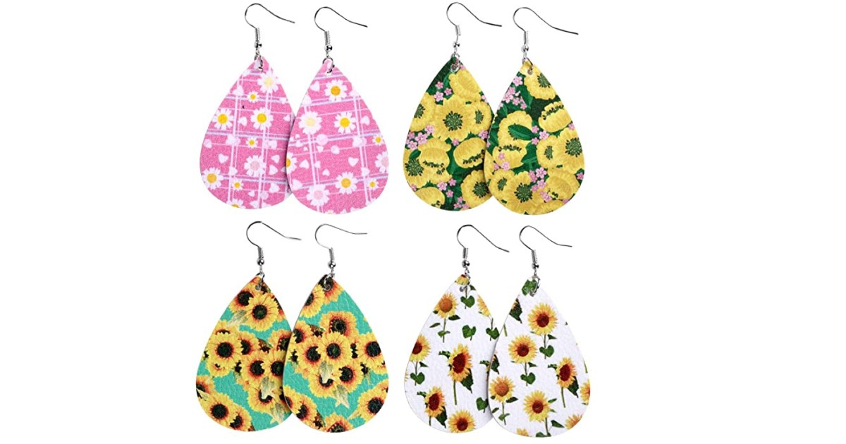 Premium Handmade Lightweight Leather Earrings ONLY $3.99 Shipped