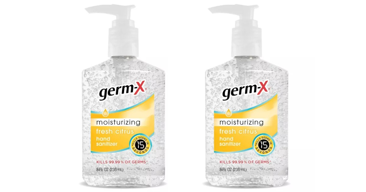 Germ-X Fresh Citrus Hand Sanitizer w/Pump ONLY $1.99 at Target