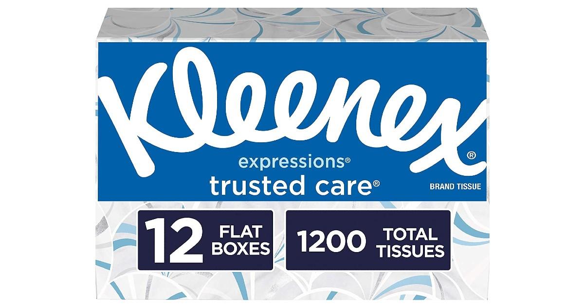 Kleenex Facial Tissues 12-Boxes ONLY $12.49 at Amazon