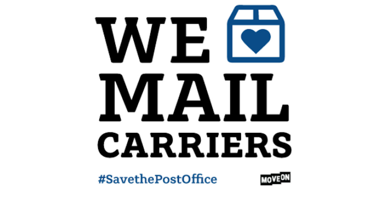 FREE We Love Mail Carriers Sti...