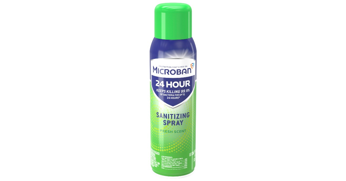 Microban Disinfectant Sanitizing Spray In Stock at Walmart