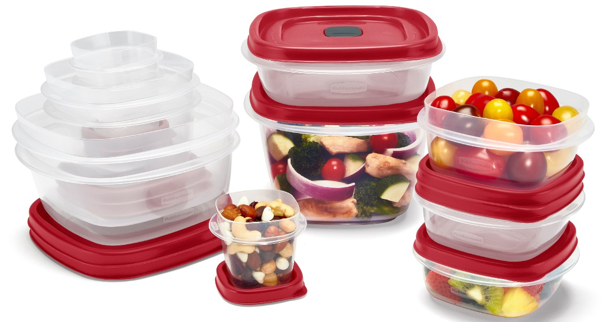 Rubbermaid 24-Piece Food Storage Set ONLY $10 at Walmart