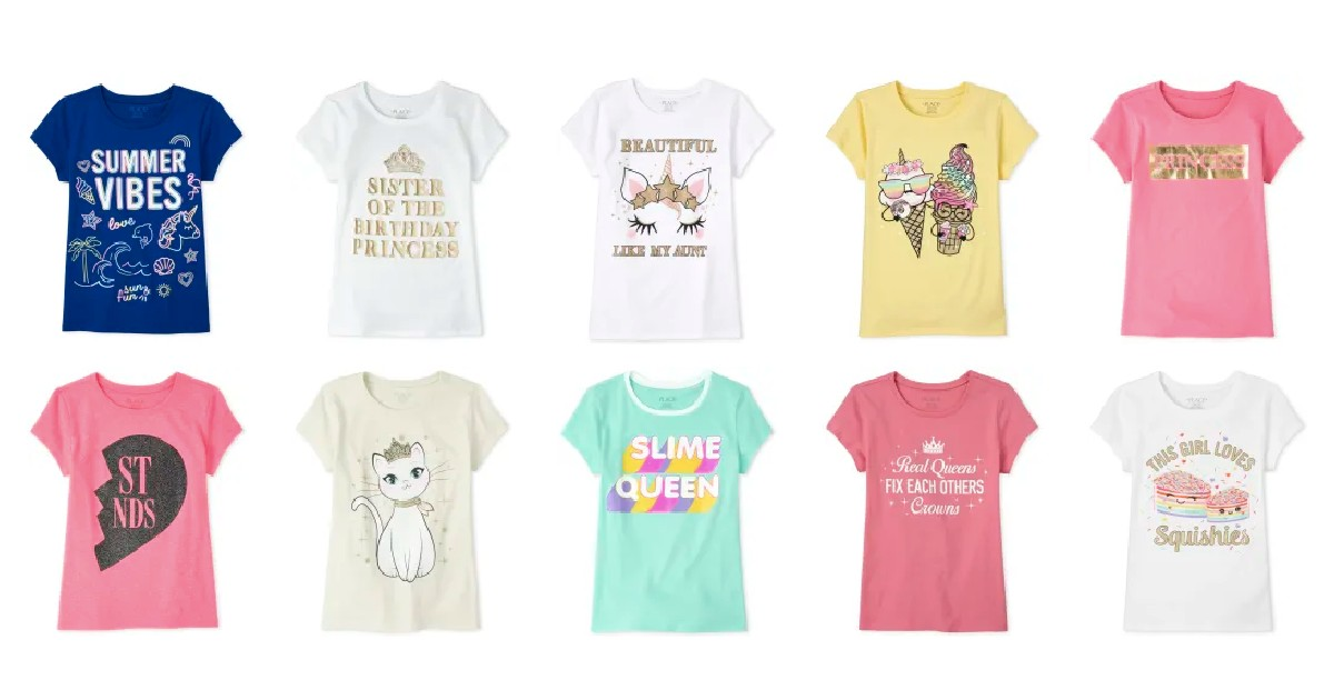 Graphic Tees Starting at $3.99 at The Children's Place