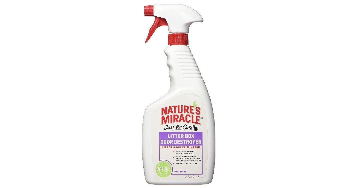 Nature's Miracle Litter Box Odor Destroyer ONLY $3.27 (Reg. $12)