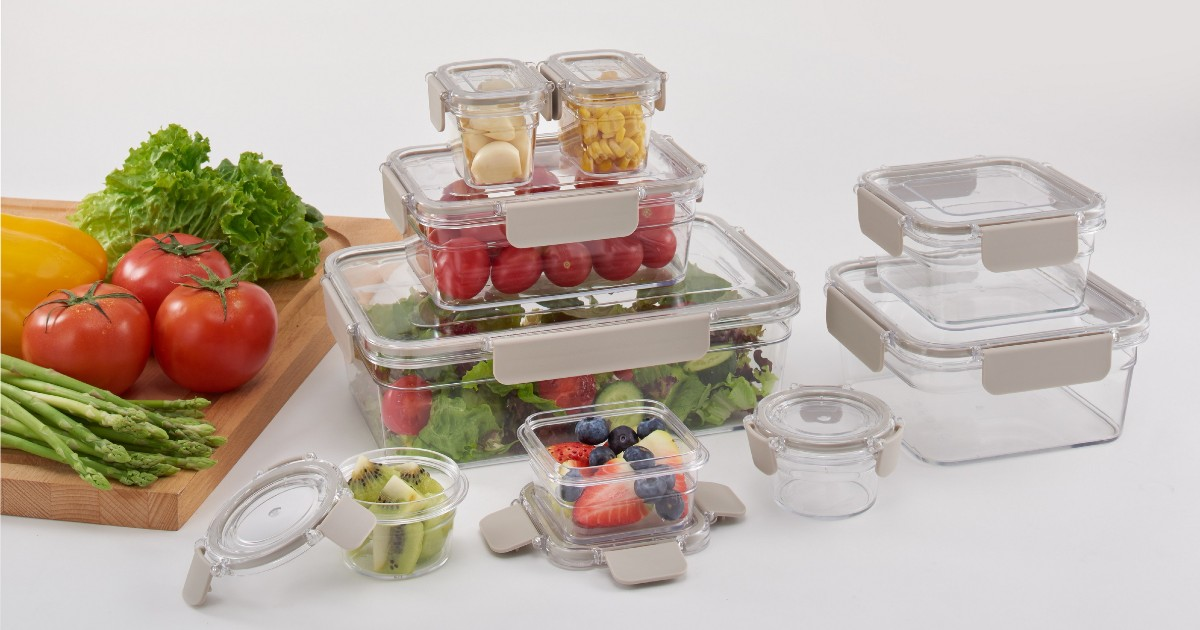 Better Homes & Garden 18-Pc Food Storage Containers ONLY $17.99