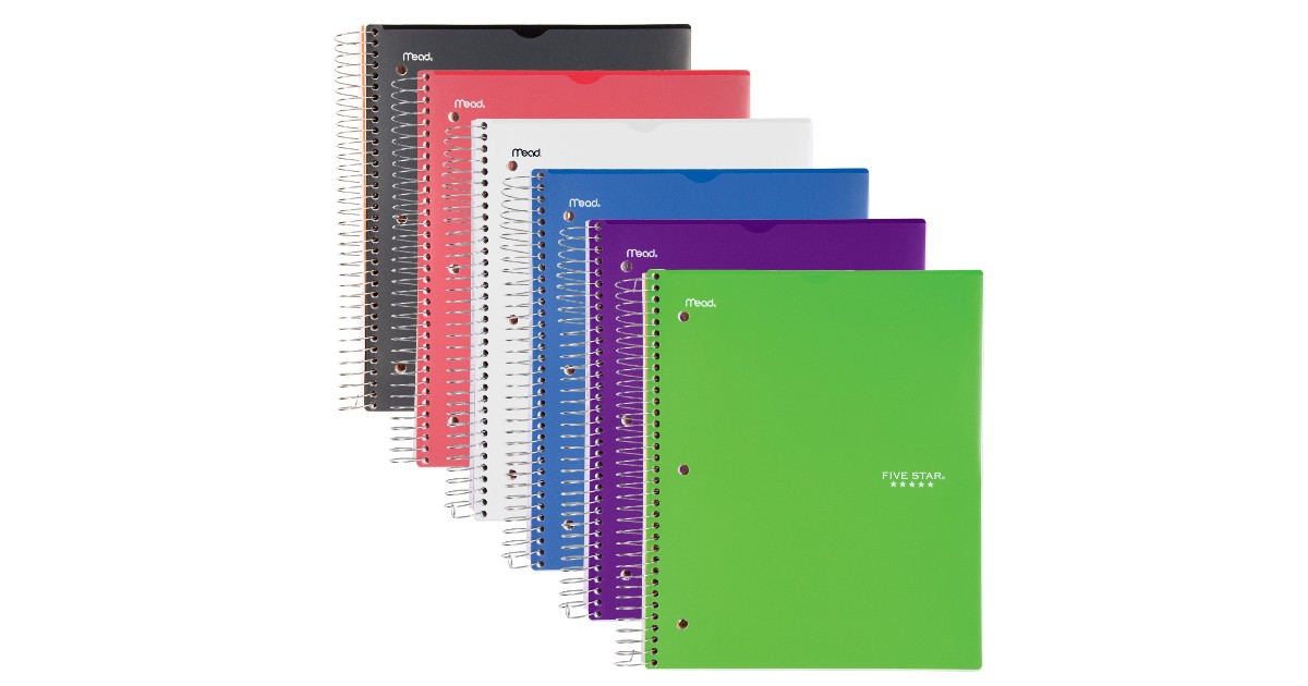 Five Star 5-Subject Spiral Notebook ONLY $5.97 at Walmart