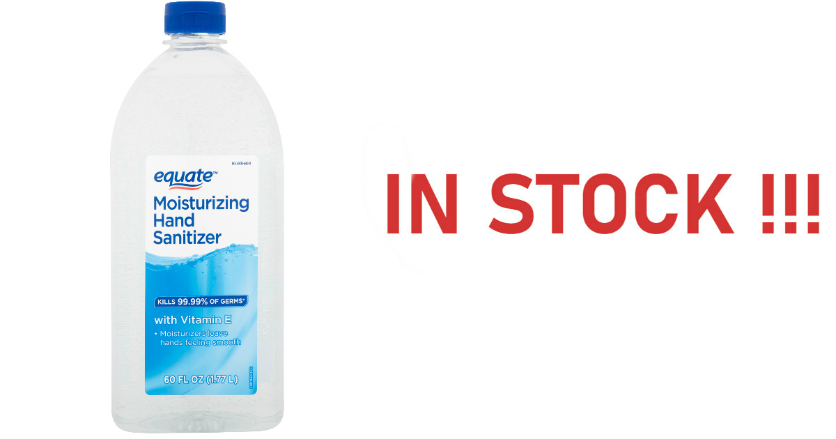 In Stock Equate Hand Sanitizer...