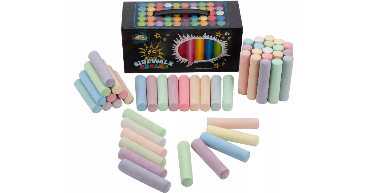 Creative Kids Sidewalk Chalk 50-Count) ONLY $4.99 at Target