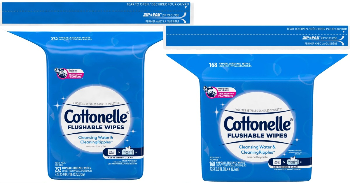 Cottonelle Flushable Wipes 162...