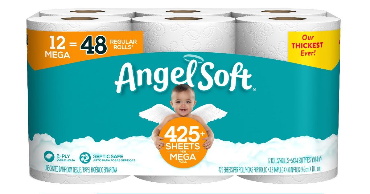 Angel Soft Toilet Paper 12 Mega Rolls ONLY $9.97 at Walmart
