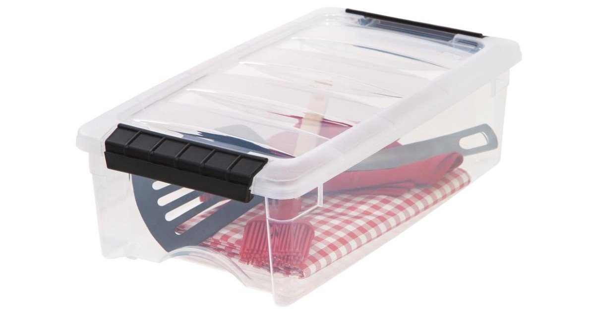 IRIS 5-Qt Stack and Pull Storage Box ONLY $3.52 at Home Depot