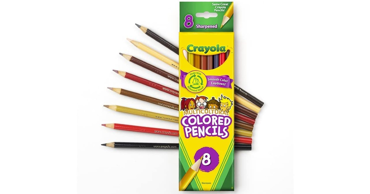 Crayola Multicultural Colored Pencils 8-Ct ONLY $2.38 (Reg $5)