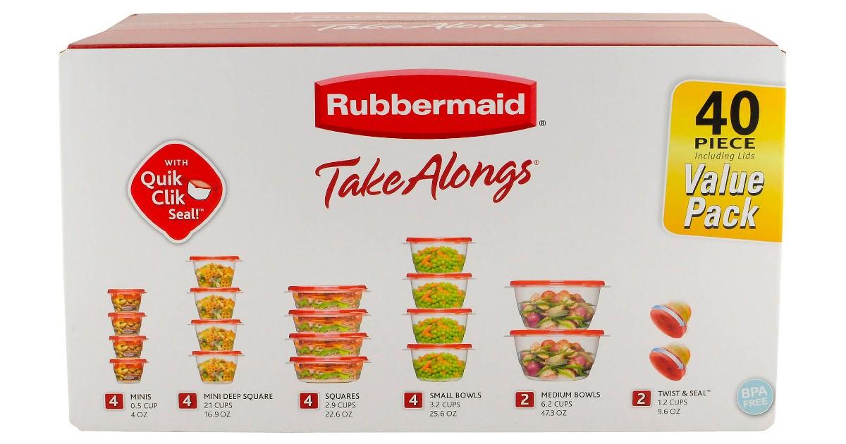 Rubbermaid 40-Piece Food Storage Set ONLY $9.98 at Walmart