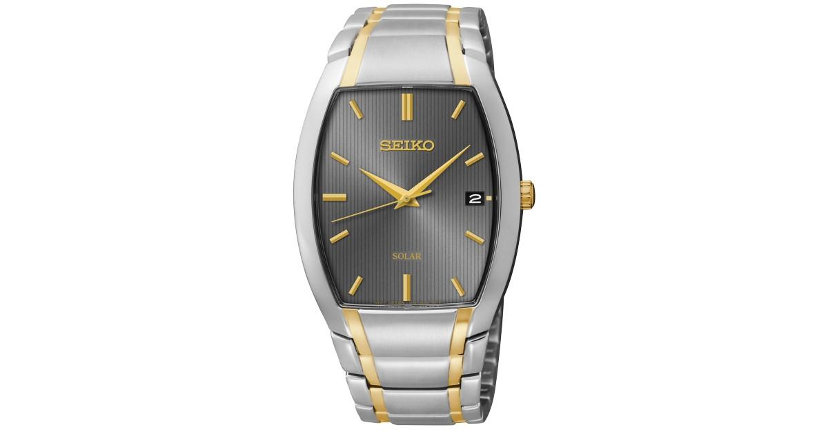 Seiko Men's Solar Bracelet Watch ONLY $88.50 (Reg $295)