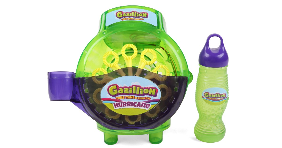 Gazillion Bubble Hurricane Bubble Machine ONLY $9.97 (Reg $15)