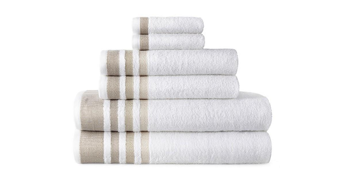 Home Expressions 6-pc. Stripes Bath Towel Set $14.99 (Reg. $48)