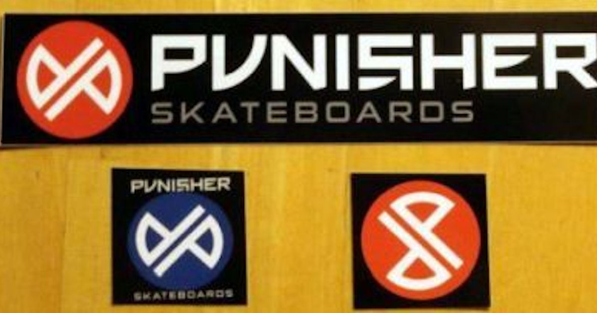 FREE Punisher Skateboards Stic...