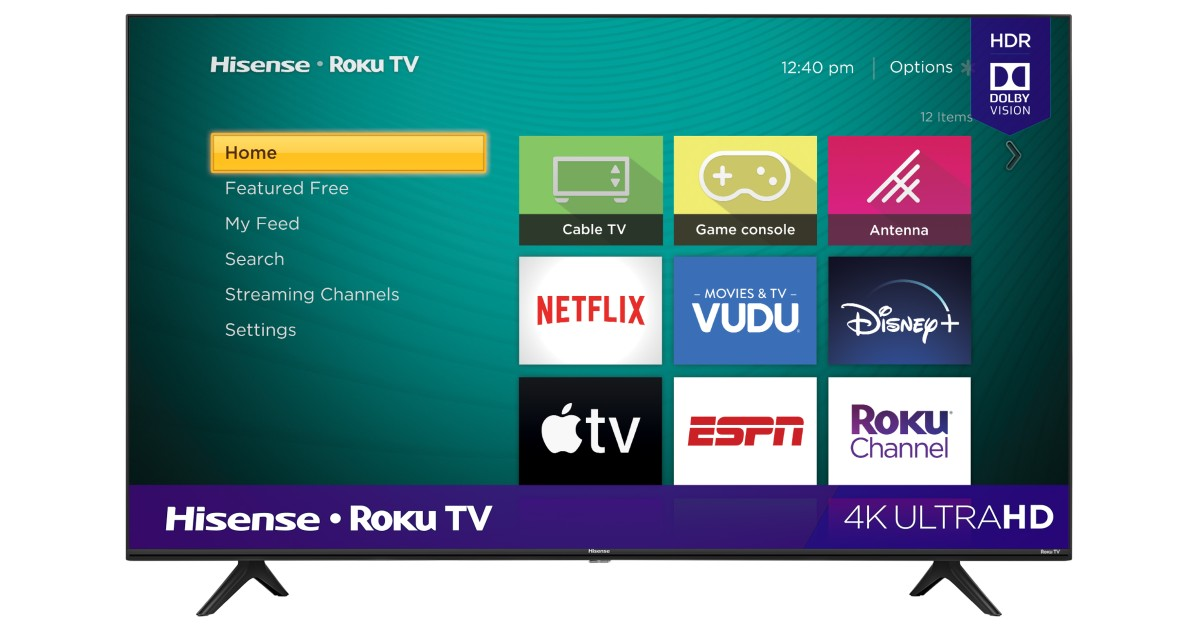 Hisense 58-In 4K UHD LED Roku Smart TV ONLY $278 at Walmart