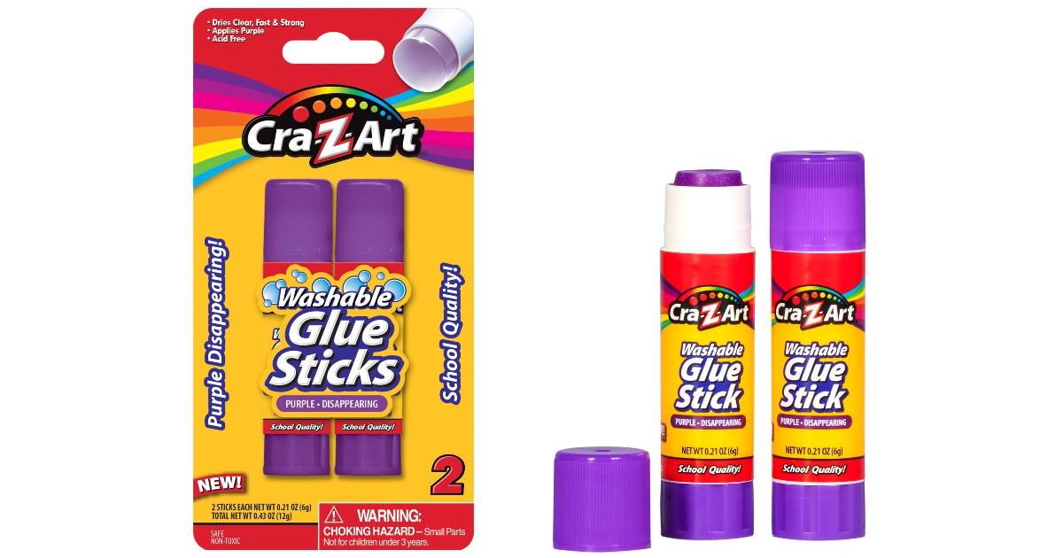 Cra-Z-Art Washable Glue Sticks 2-Count ONLY $0.25 at Walmart