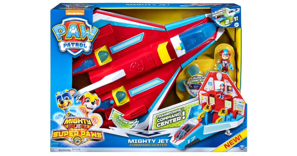 Paw Patrol Transforming Jet Command Center ONLY $20.99 at Target