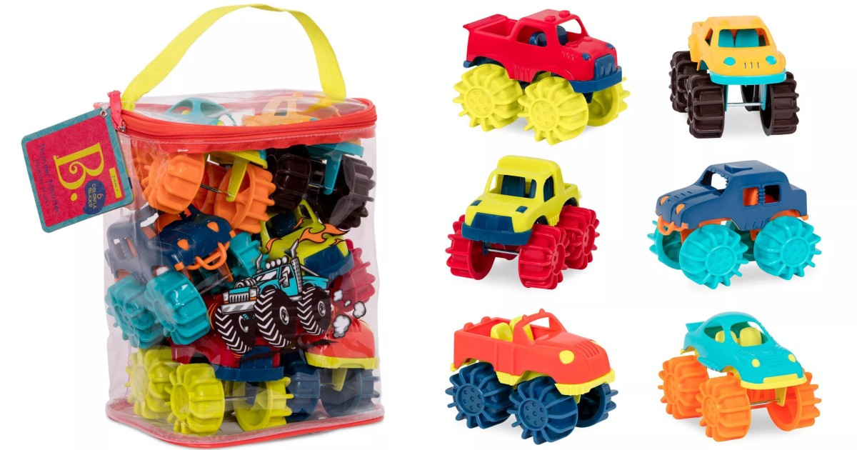B. Toys Mini Monster Trucks 6-Pack ONLY $8.99 at Target