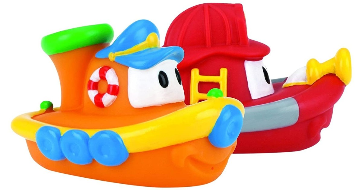 Nuby 2-Pack Tub Tugs Floating Boat Bath Toys $4.73 (Reg. $12)