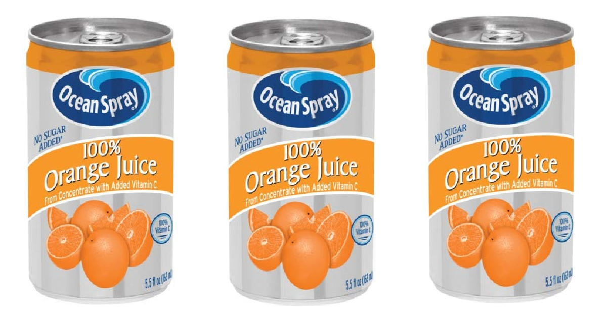 Ocean Spray Orange Juice Mini Cans 48-Pack ONLY $15.83 Shipped