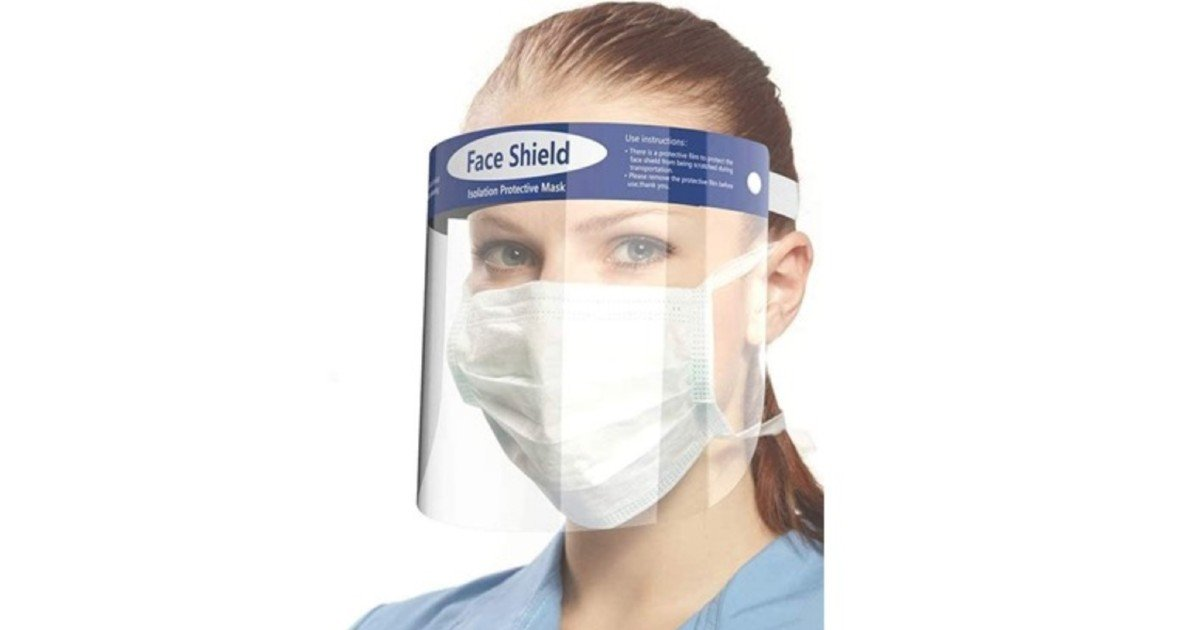 Reusable Face Shields 10-Pk ONLY $24.99 at Woot