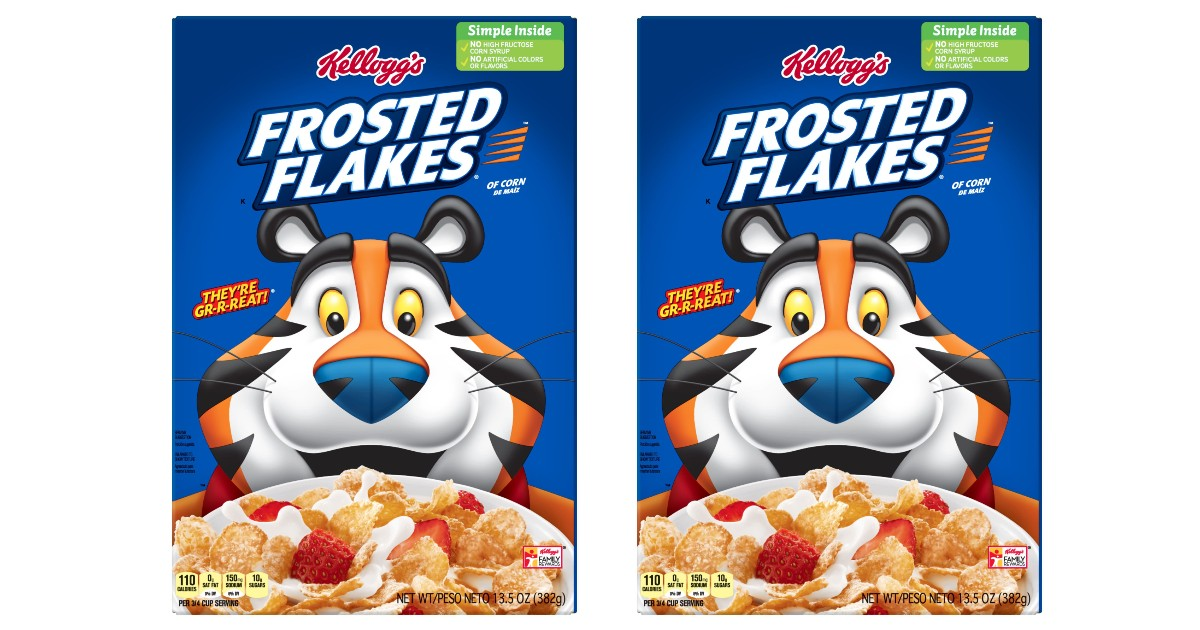 Kellogg's Frosted Flakes Cereal ONLY $1.38 at Walgreens