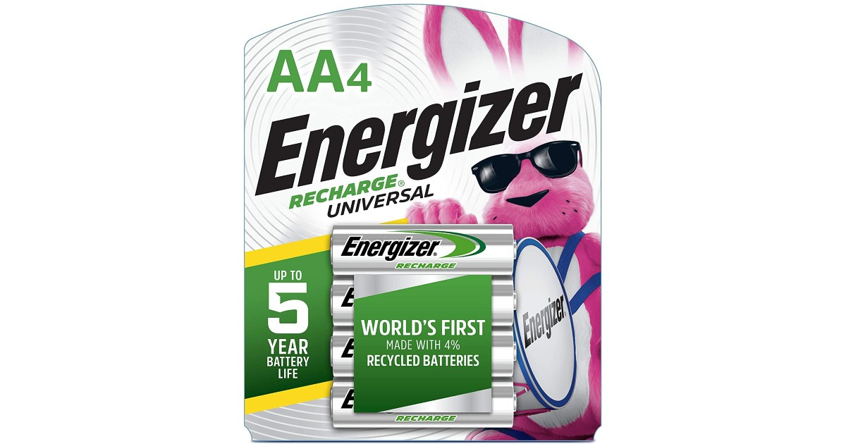 Energizer Rechargeable AA Batteries ONLY $7.19 (Reg $13)
