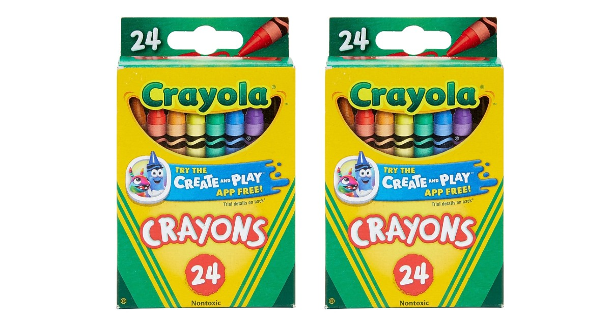 Crayola Crayons 24-Count ONLY $0.50 at Staples