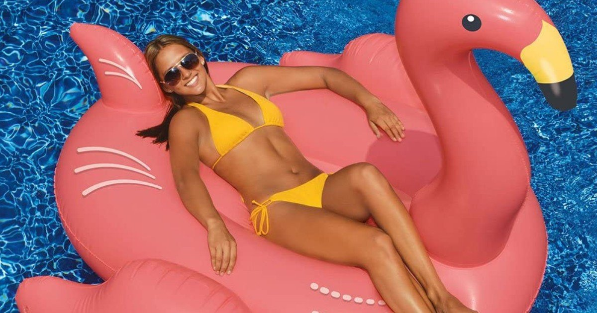 Swimline Giant Flamingo Pool Float ONLY $28.99 (Reg $105)